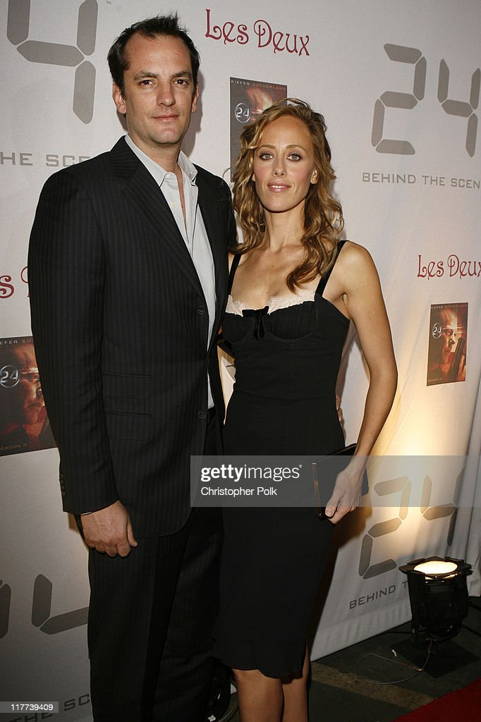 Kim Raver and guest during '24' Season Five DVD Release at Les Deux in Hollywood California United States