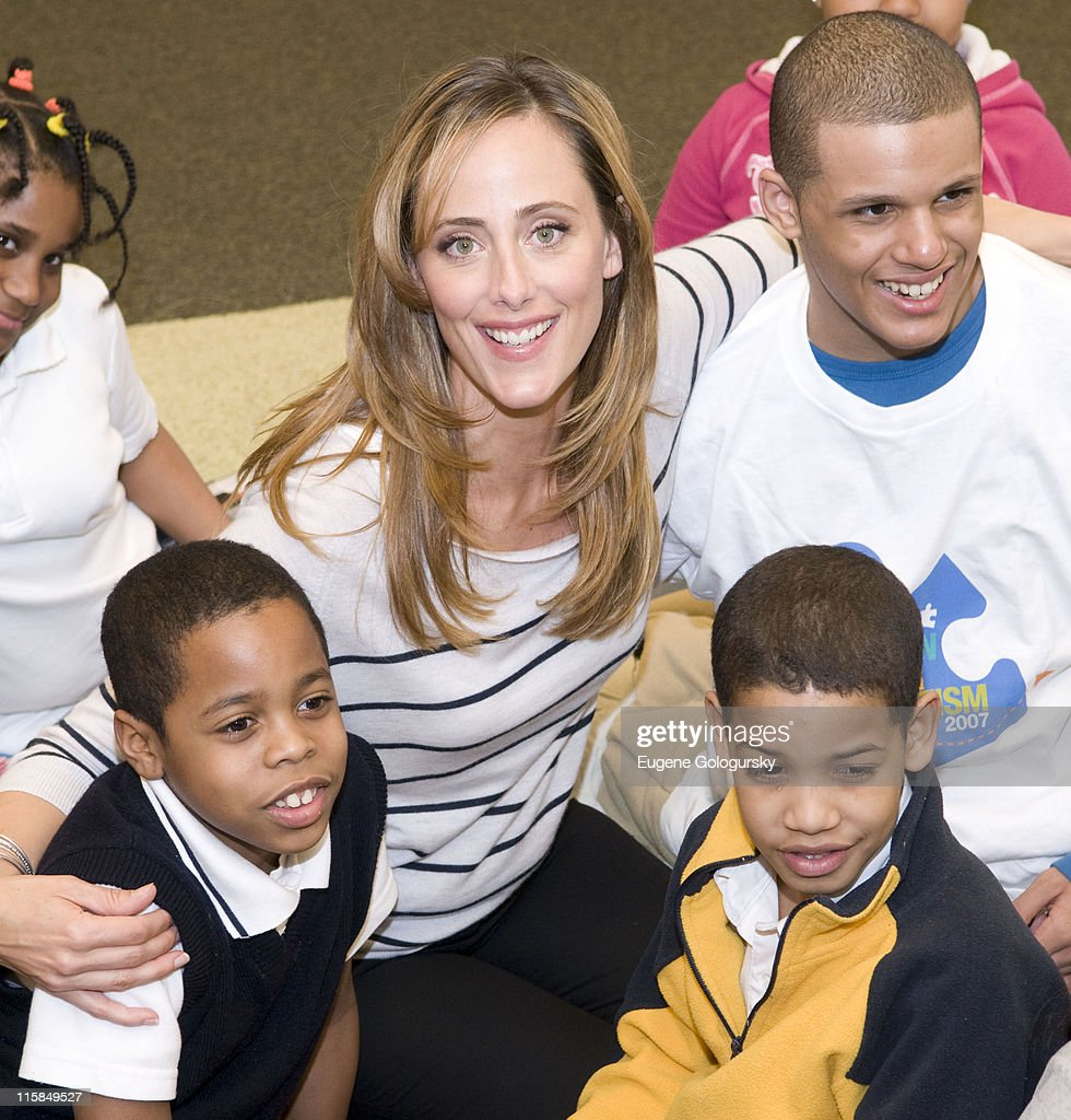 Kim Raver reads 'Since We're Friends An Autism Picture Book' at Barnes and Noble on April 2 2008 in New York City