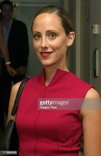 Kim Raver wearing a Azzedine Alaia dress during 16th Annual Conde Nast Traveler Readers Choice Awards Inside at The Guggenheim Museum in New York...