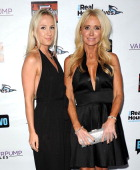 Kim Richards and daughter Brooke Brinson attend the 'The Real Housewives of Beverly Hills' and 'Vanderpump Rules' premiere party at Boulevard3 on...