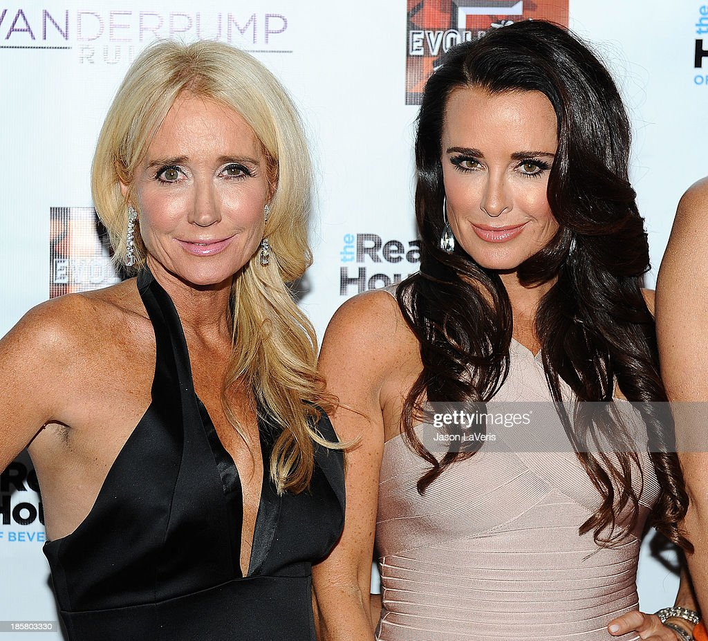 Kim Richards and Kyle Richards attend the 'The Real Housewives of Beverly Hills' and 'Vanderpump Rules' premiere party at Boulevard3 on October 23, 2013 in Hollywood, California.