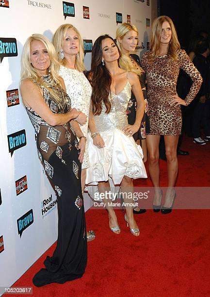 Kim Richards Kathy Hilton Kyle Richards Paris Hilton and Nicky Hilton attend the 'Real Housewives of Beverly Hills' Premiere Party at Trousdale on...