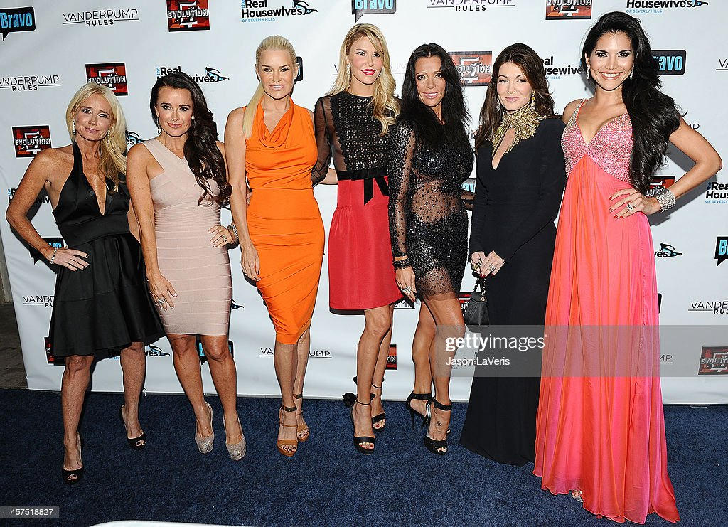Kim Richards Kyle Richards Yolanda H Foster Brandi Glanville Carlton Gebbia Lisa Vanderpump and Joyce Giraud de Ohoven attends the 'The Real...