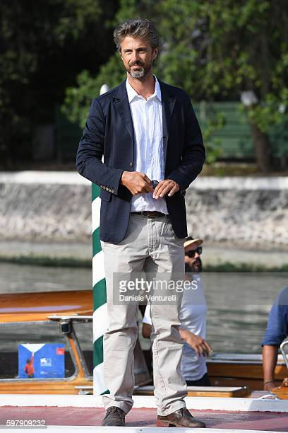 Kim Rossi Stuart arrives at Lido during the 73rd Venice Film Festival on August 30 2016 in Venice Italy