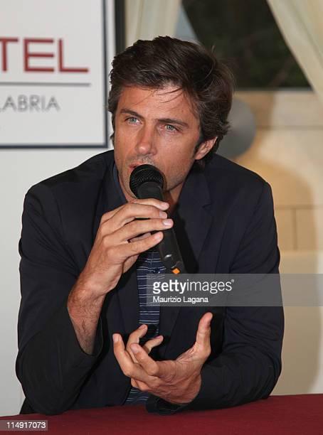 Kim Rossi Stuart attends at press conference during Reggio Calabria Film Festival on May 28 2011 in Reggio Calabria Italy