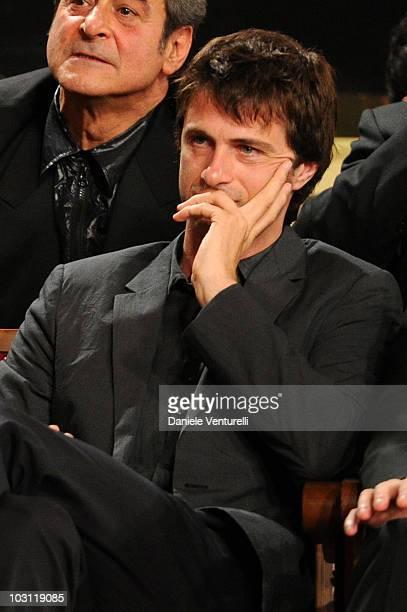 Kim Rossi Stuart attends the 'David Di Donatello' movie awards at the Auditorium Conciliazione on May 7 2010 in Rome Italy