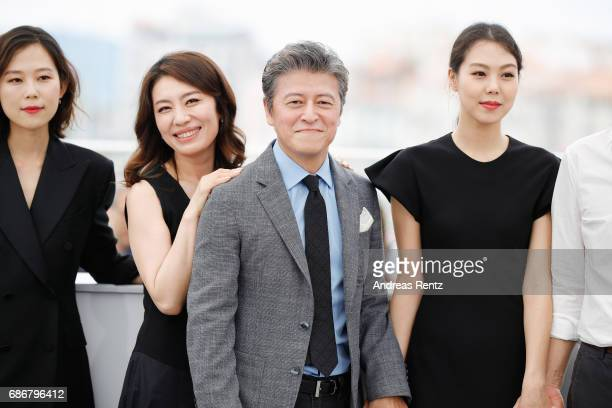 Kim Saebyeok Cho Yunhee Kwon Haehyo and Kim Minhee attends 'The Day After ' photocall during the 70th annual Cannes Film Festival at Palais des...