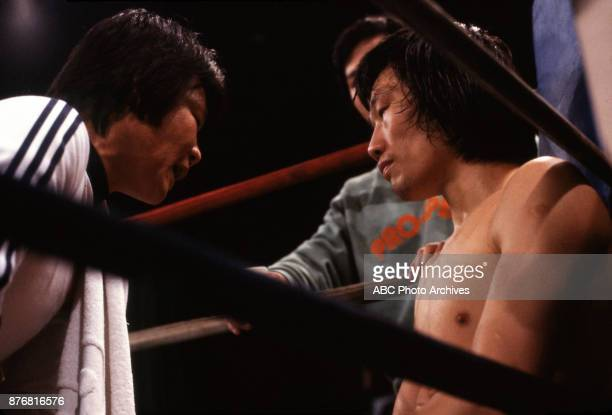 Kim Sanghyun boxing at Sands April 2 1983