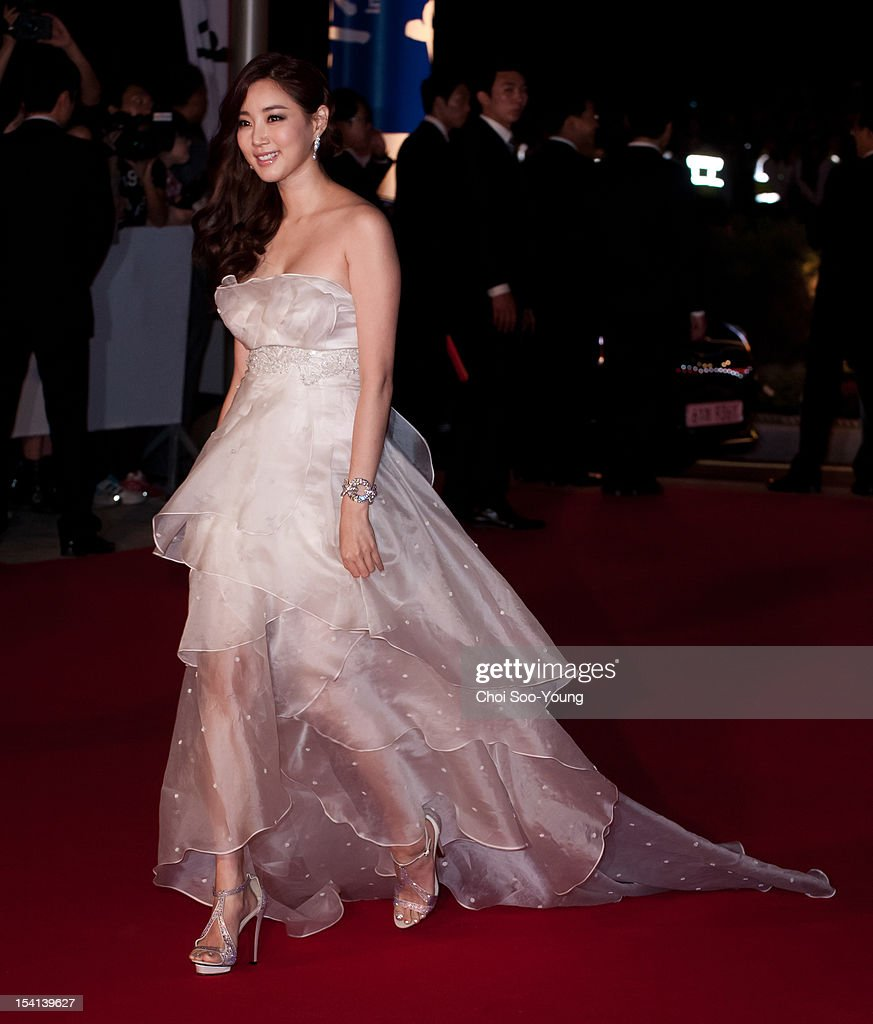 Kim SaRang arrives for the opening ceremony of the 17th Busan International Film Festival at the Busan Cinema Center on October 4 2012 in Busan South...