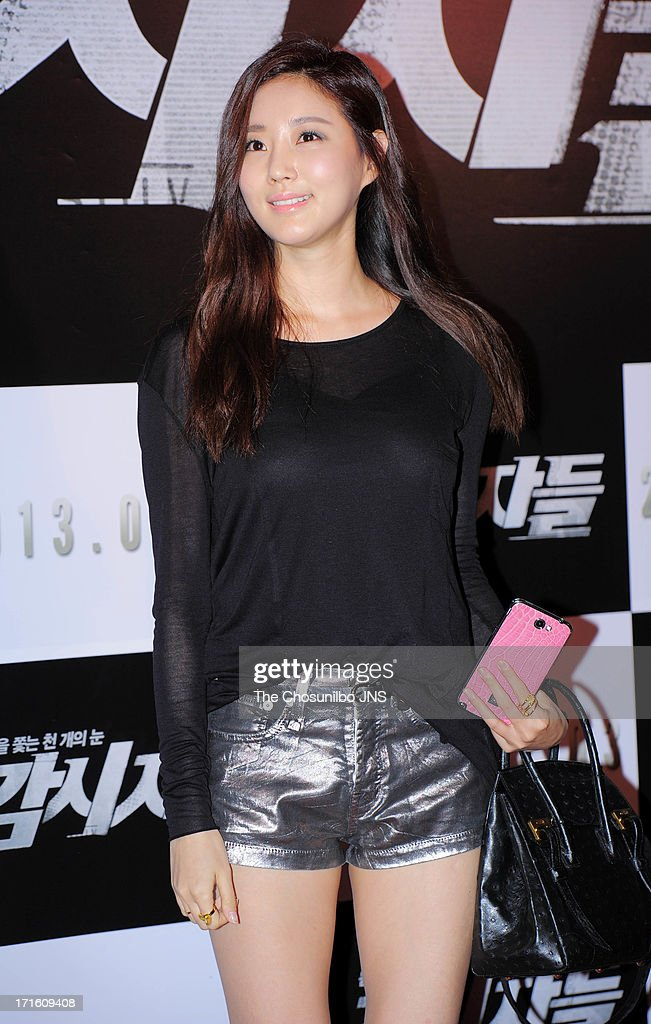 Kim SaRang attends the 'Cold Eyes' Red Carpet VIP Press Screening at COEX Megabox on June 25 2013 in Seoul South Korea