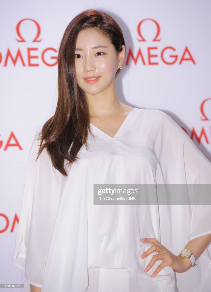 Kim SaRang attends the OMEGA COAXIAL Exhibition at Beyond Museum on July 8 2013 in Seoul South Korea