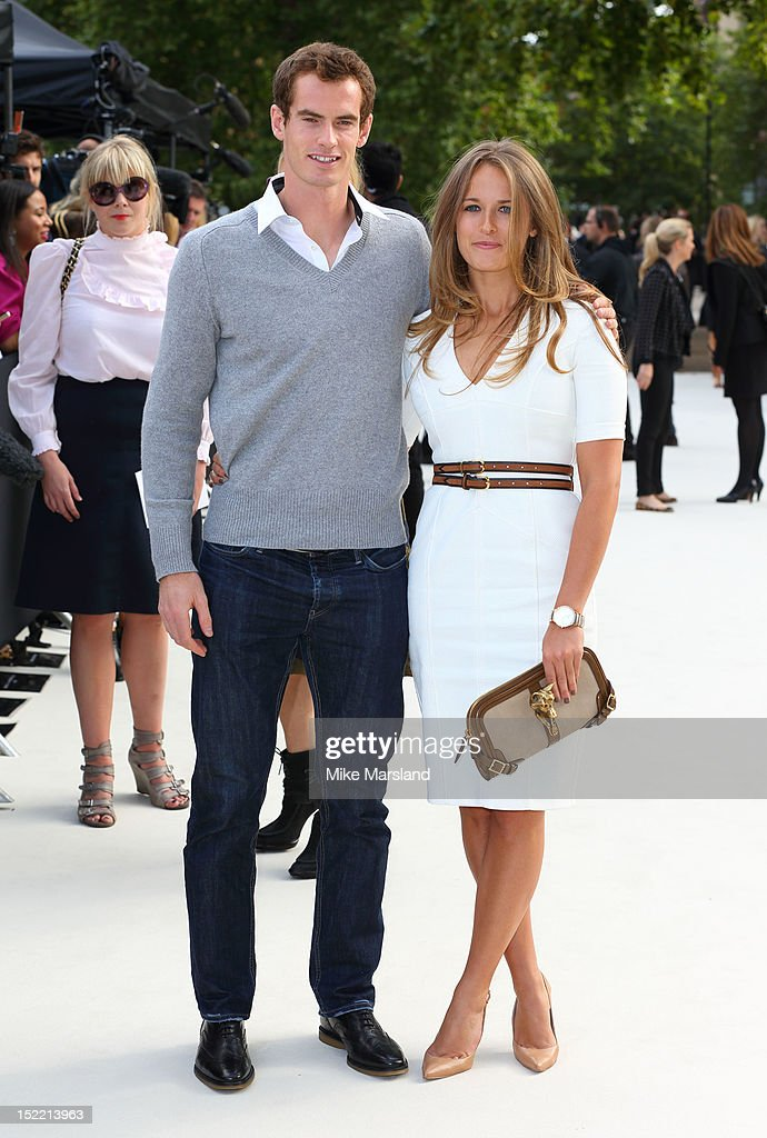 Kim Sears and Andy Murray attend the front row for the Burberry Prorsum show on day 4 of London Fashion Week Spring/Summer 2013 on September 17, 2012 in London, England.