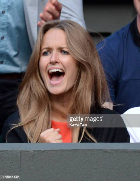 Kim Sears attends the Andy Murray vs Jerzy Janowicz match on Day 11 of the Wimbledon Lawn Tennis Championships at the All England Lawn Tennis and...