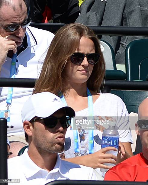 Kim Sears is sighted at Sony Open Tennis at Crandon Park Tennis Center on March 25 2014 in Key Biscayne Florida