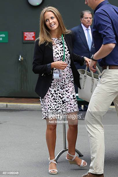Kim Sears seen arriving at Wimbledon on June 30 2014 in London England