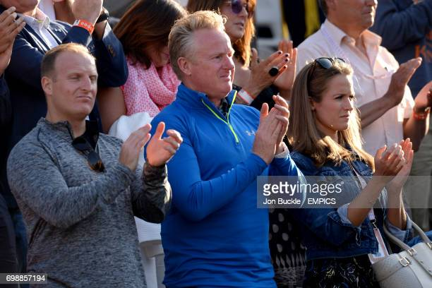 Kim Sears watching her husband Andy Murray against David Ferrer in the Men's Singles Quarterfinals on day eleven of the French Open at Roland Garros...