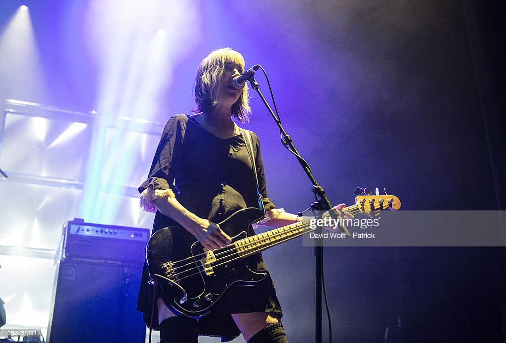 Kim Shattuck from Pixies performs at l' Olympia on September 29 2013 in Paris France