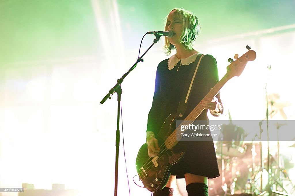 Kim Shattuck of Pixies performs on stage at Manchester Apollo on November 21 2013 in Manchester United Kingdom