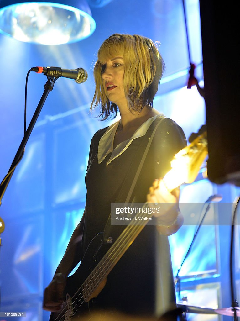 Kim Shattuck of the Pixies performs at The Bowery Ballroom on September 20 2013 in New York City