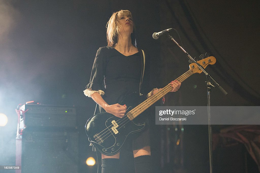 Kim Shattuck of The Pixies performs on stage on Day 3 of Riot Fest and Carnival 2013 at Humboldt Park on September 15 2013 in Chicago Illinois