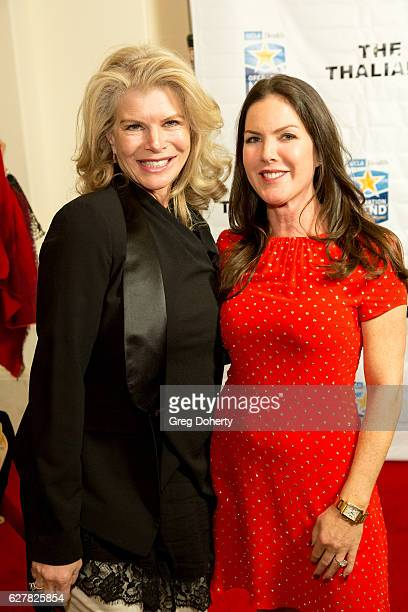 Kim Sill and Kira Reed Lorsch arrive for The Thalians Presidents Club's 'Holiday Brunch Spectacular' at Montage Beverly Hills on December 4 2016 in...