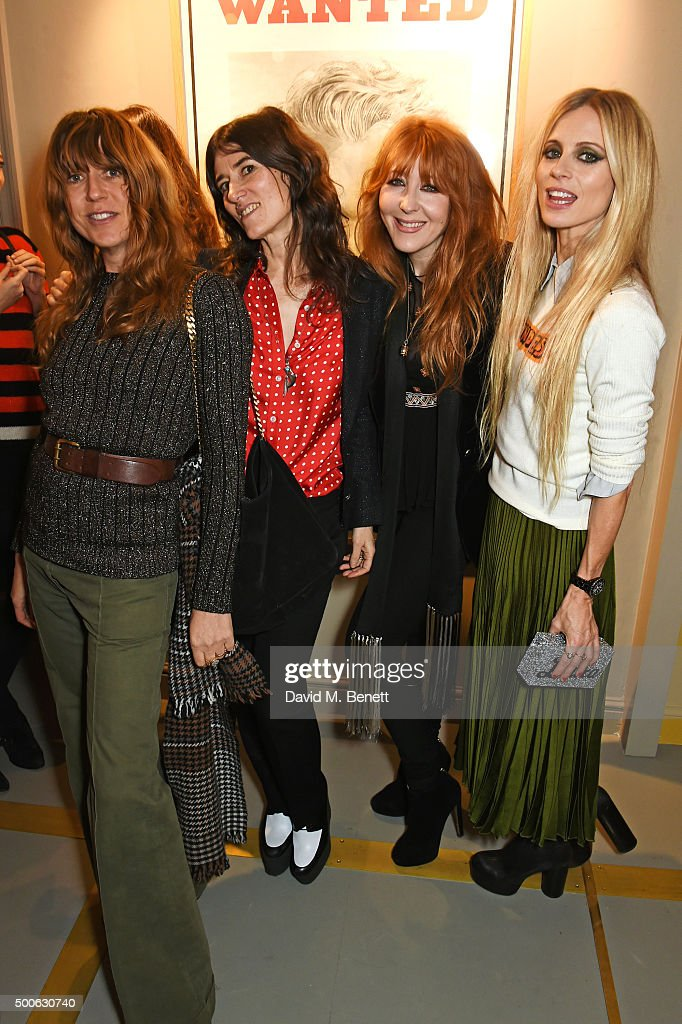 Kim Sion, Bella Freud, Charlotte Tilbury and Laura Bailey attend the Bella Freud store launch in Marylebone on December 9, 2015 in London, England.