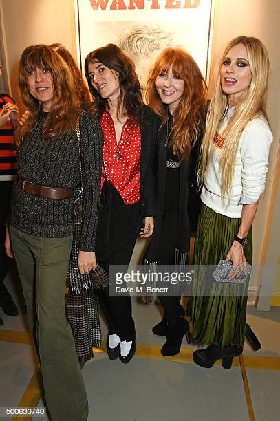 Kim Sion Bella Freud Charlotte Tilbury and Laura Bailey attend the Bella Freud store launch in Marylebone on December 9 2015 in London England