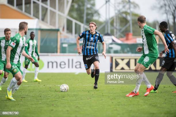 Kim Skoglund of IK Sirius FK during the Allsvenskan match between IK Sirius FK and Hammarby IF at Studenternas IP on May 21 2017 in Uppsala Sweden
