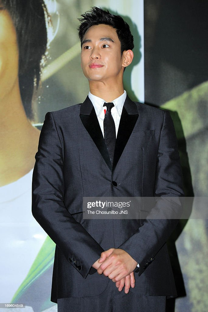 Kim SooHyun attends the 'Secretly and Greatly' press conference at COEX Megabox on May 27 2013 in Seoul South Korea