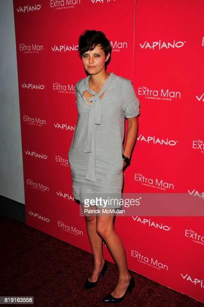 Kim Stoltz attends Vapiano hosts the New York Premiere of THE EXTRA MAN red carpet arrivals and afterparty at Village East Cinema and Vapiano NYC on...