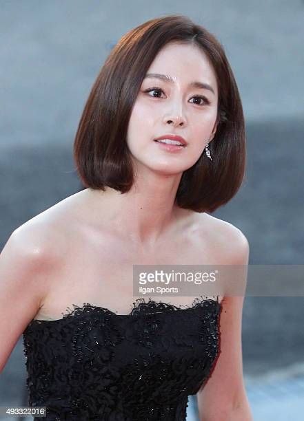 Kim Taehee attends the 2015 Korea Drama Awards red carpet event at Gyeongnam Culture and Art Center on October 9 2015 in Jinju South Korea