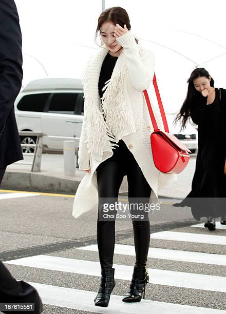 Kim TaeHee is seen at Incheon International Airport on November 6 2013 in Incheon South Korea