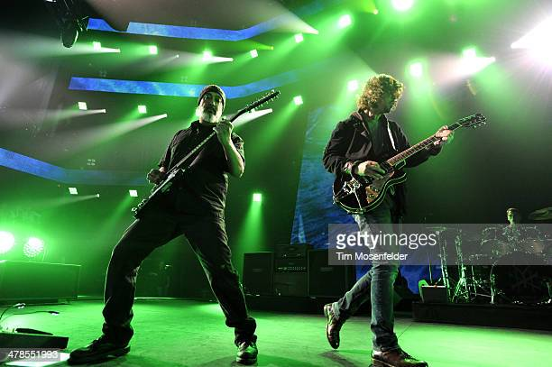 Kim Thayil Chris Cornell and Matt Cameron of Soundgarden perform as part of the iTunes Festival At SXSW at Moody Theater on March 13 2014 in Austin...