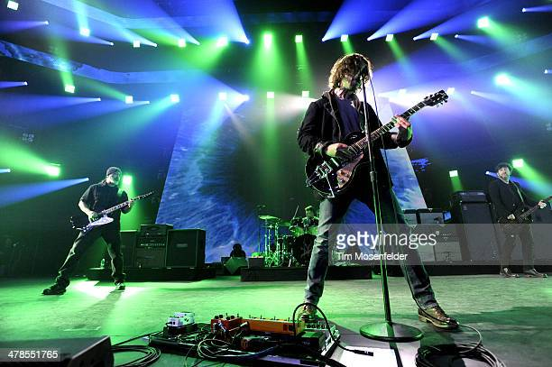 Kim Thayil Matt Cameron Chris Cornell and Ben Shepherd of Soundgarden perform as part of the iTunes Festival At SXSW at Moody Theater on March 13...