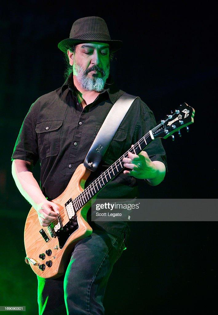Kim Thayil of Soundgarden performs during 2013 Rock On The Range at Columbus Crew Stadium on May 19, 2013 in Columbus, Ohio.