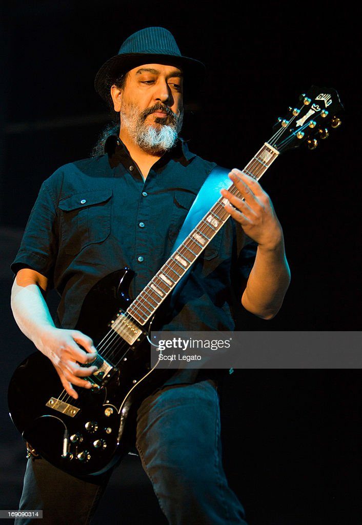 Kim Thayil of Soundgarden performs during 2013 Rock On The Range at Columbus Crew Stadium on May 19, 2013 in Columbus, Ohio.