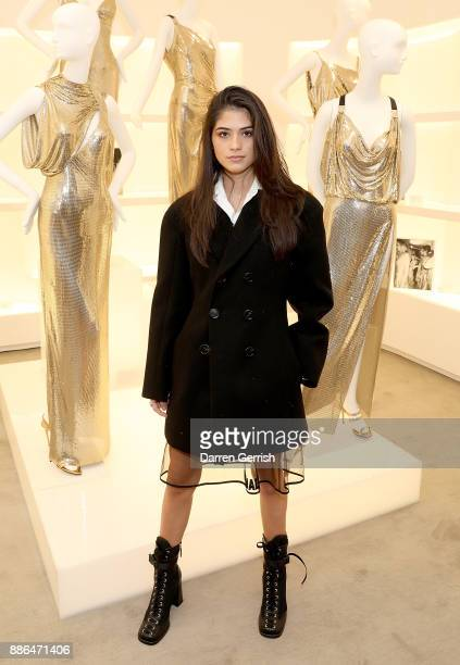 Kim Turnbull attends the Versace Boutique Opening on Sloane Street on December 5 2017 in London England