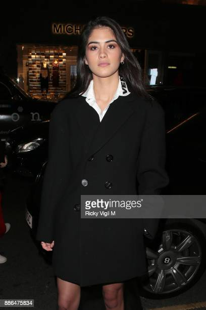 Kim Turnbull attends Versace boutique opening party on December 5 2017 in London England