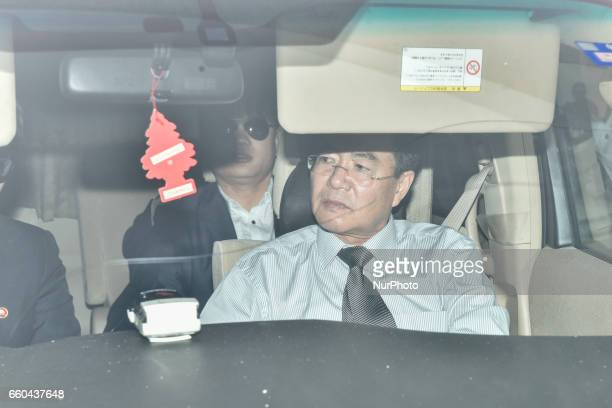 Kim Ukil who suspect in the Kim JongNam murder case and North Korean Embassy counsellor Kim Yu Song are sitting inside the North Korean embassy car...