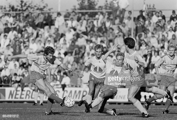 Kim Vilfort of Brondby IF in action during the Danish 1 division match between Brondby IF and Kastrup Boldklub at Brondby Stadion on August 31 1986...