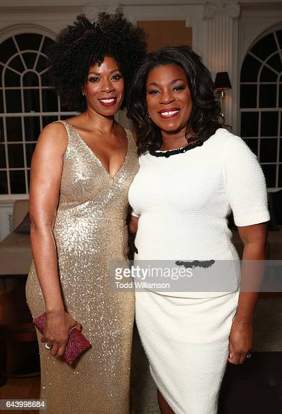 Kim Wayans and Lorraine Toussaint attend the 8th Annual Oscar's Sistahs Soiree Presented by Alfre Woodard and Farfetch at the Beverly Wilshire Four...