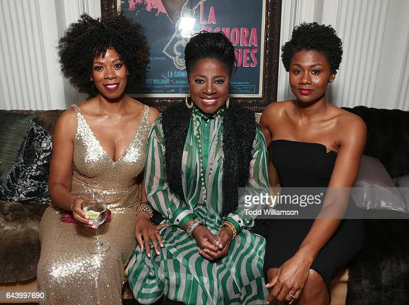Kim Wayans LaTanya Richardson and Emayatzy Corinealdi attend the 8th Annual Oscar's Sistahs Soiree Presented by Alfre Woodard and Farfetch at the...