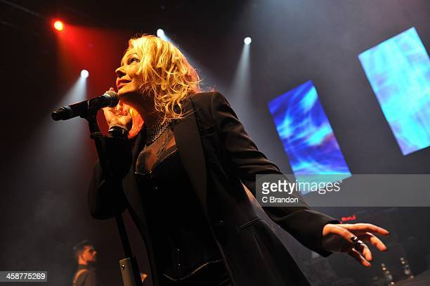 Kim Wilde performs on stage at Shepherds Bush Empire on December 21 2013 in London United Kingdom