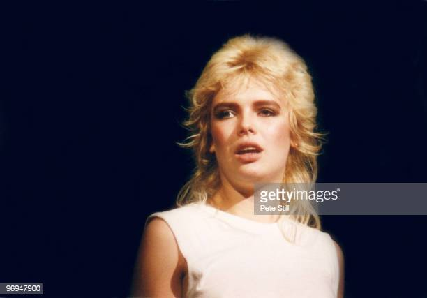 Kim Wilde performs on stage at The Dominion Theatre on October 26th 1982 in London England