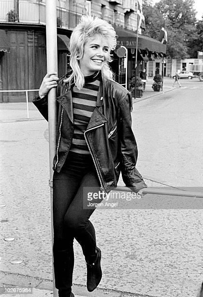 Kim Wilde poses for a portrait in September 1982 in Copenhagen Denmark