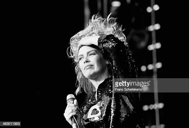 Kim Wilde vocal performs at the Goffert in Nijmegen the Netherlands on 17th August 1990