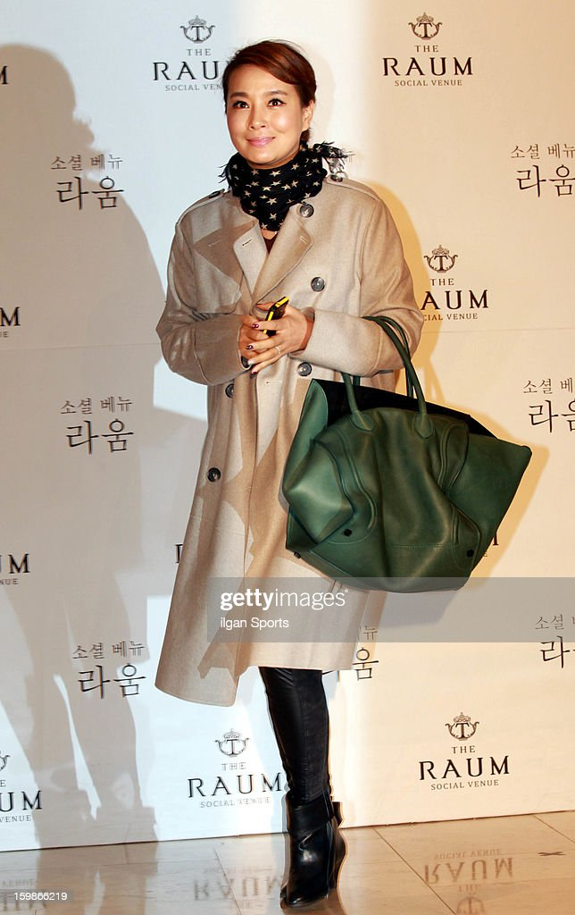 Kim Won-Hee attends So Yu-Jin's wedding at the Raum on January 19, 2013 in Seoul, South Korea.
