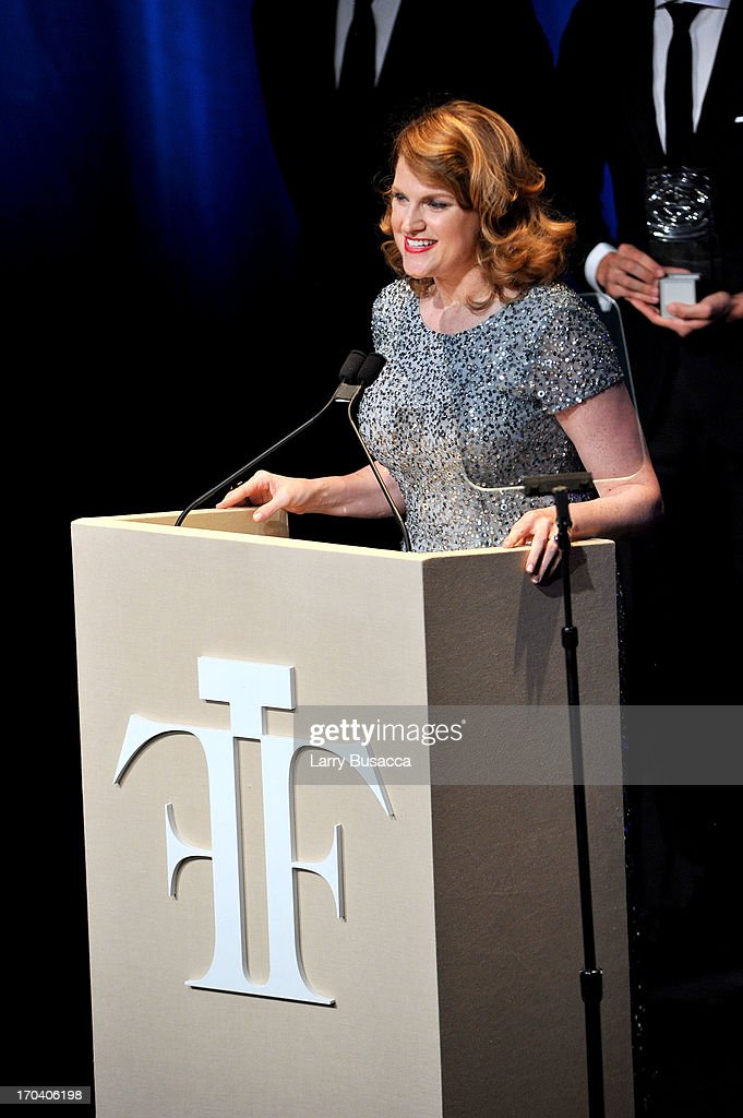 Kim Yates speaks at the 2013 Fragrance Foundation Awards at Alice Tully Hall at Lincoln Center on June 12, 2013 in New York City.