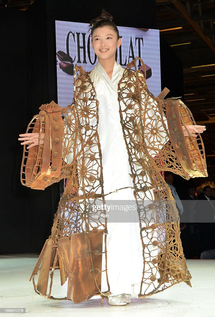 Kim Yoo Jung walks the runway during the Salon du Chocolat 2012 Opening Night at Parc des Expositions Porte de Versailles on October 30, 2012 in Paris, France.