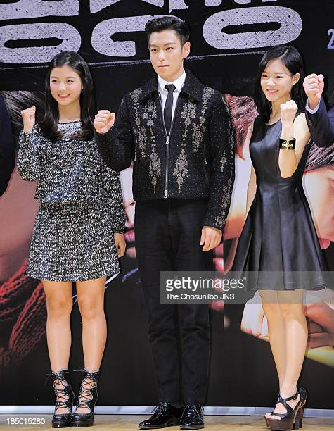 Kim YooJung TOP and Han YeRi attend the 'The Commitment' showcase at Konkuk University New Millenium Hall on October 16 2013 in Seoul South Korea